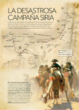 Map of the Syria campaign of Napoleon - history NG102 - EOSGIS Cartografia Magazine