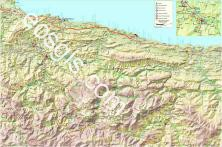 Map of Asturias - River Sella River Cares - EOSGIS Cartografia Magazine