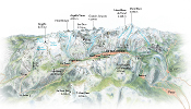 3D map of the Valley of Chamonix - EOSGIS Cartografia Magazine
